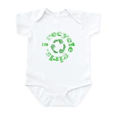 I Recycle Girls Onesie