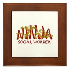 Dragon Ninja Social Worker Framed Tile