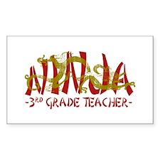 Dragon Ninja 3rd Grade Tcher Rectangle Stickers