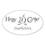 Happy Camper Oval Sticker (50 pk)