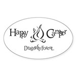 Happy Camper Oval Sticker (10 pk)