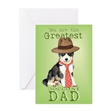 Husky I Love Dad Greeting Card