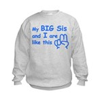 My Big Sister Kids Sweatshirt