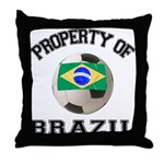 Brazil Soccer Throw Pillow