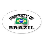 Brazil Soccer Oval Sticker