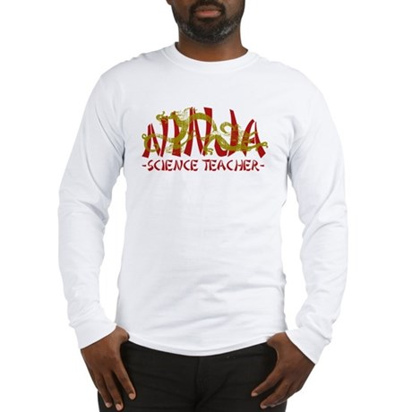 Dragon Ninja Science Teacher Long Sleeve T-Shirt