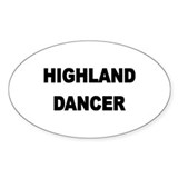 HIGHLAND STICKERS Oval Sticker (10 pk)