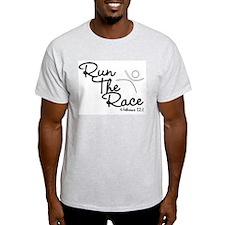 Run The Race Ash Grey T-Shirt