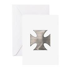 IRON BLADE CROSS (BIKER LOOK) Greeting Cards (Pack