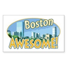Awesome Boston Rectangle Decal