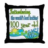 Best Looking 100th Throw Pillow