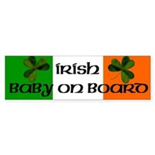 Irish Baby on Board Bumper Bumper Sticker