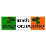 Irish Baby on Board Bumper Bumper Stickers