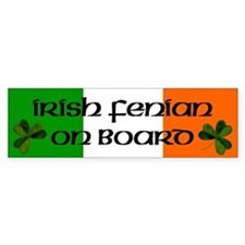 Irish Fenian on Board Bumper Bumper Sticker