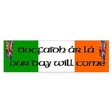Tiocfaidh Ar L&#225; Burning Union Jack Bumper Car Sticker
