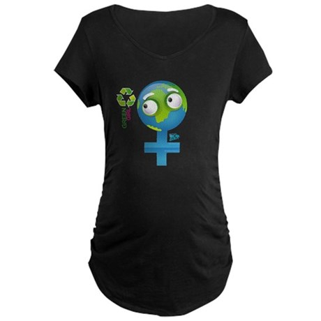 Green Girl Maternity Dark T-Shirt