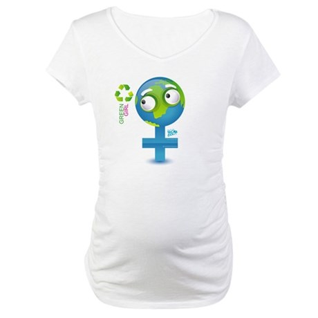 Green Girl Maternity T-Shirt