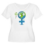 Green Girl Women's Plus Size Scoop Neck T-Shirt