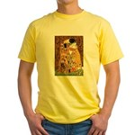 Kiss / Cocker (brn) Yellow T-Shirt