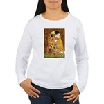 Kiss / Cocker (brn) Women's Long Sleeve T-Shirt