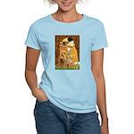 Kiss / Cocker (brn) Women's Light T-Shirt