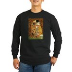 Kiss / Cocker (brn) Long Sleeve Dark T-Shirt