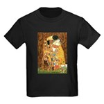 Kiss / Cocker (brn) Kids Dark T-Shirt