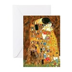 Kiss / Cocker (brn) Greeting Cards (Pk of 10)