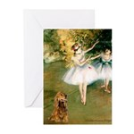Dancers / Cocker (brn) Greeting Cards (Pk of 10)