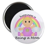 Happiness is: Mom (BG:rain) Magnet