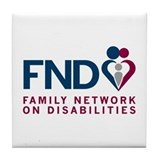 FND Logo Series Tile Coaster