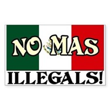 """No More Illegals!"" Decal"