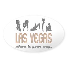 Las Vegas (sex) Oval Decal