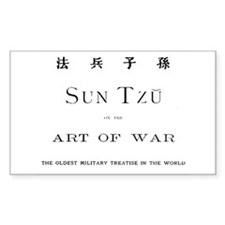 Sun Tzu Art of War Rectangle Decal