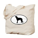 Scottish Deerhound Oval Tote Bag