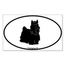 Yorkie Euro Oval Rectangle Decal