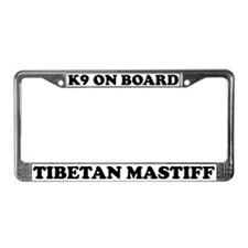 K9 On Board Tibetan Mastiff License Plate Frame