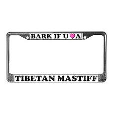 Bark Tibetan Mastiff License Plate Frame