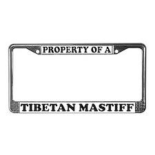 Property Of A Tibetan Mastiff License Plate Frame