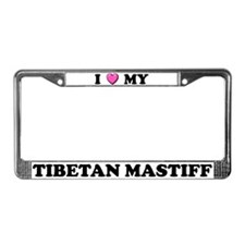 I Heart My Tibetan Mastiff License Plate Frame