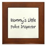 Mommy's Little Police Inspector Framed Tile