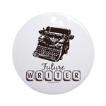 Future Writer Aspring Author Ornament (Round)