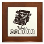Future Writer Aspring Author Framed Tile