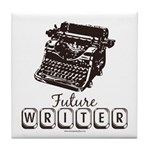 Future Writer Aspring Author Tile Coaster
