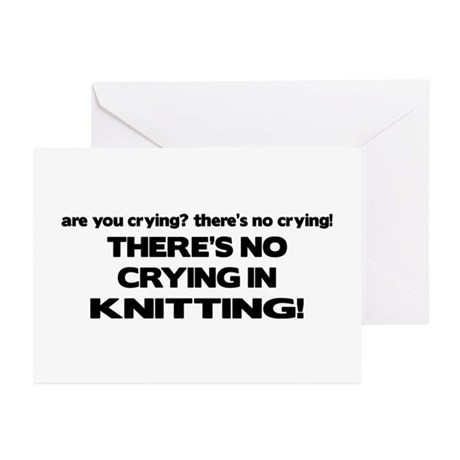 There's No Crying in Knitting Greeting Cards (Pk o