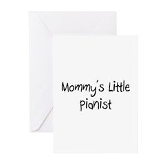 Mommy's Little Pianist Greeting Cards (Pk of 10)