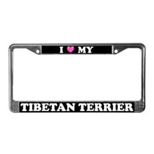 I Heart My Tibetan Terrier License Plate Frame