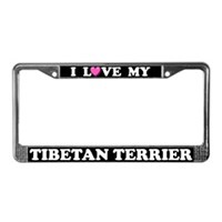 Tibetan Terrier License Plate Frames