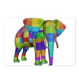 Rainbow Elephant Postcards (Package of 8)