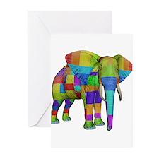 Rainbow Elephant Greeting Cards (Pk of 20)